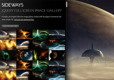 SIDEWAYS &#8211; jQuery fullscreen image gallery